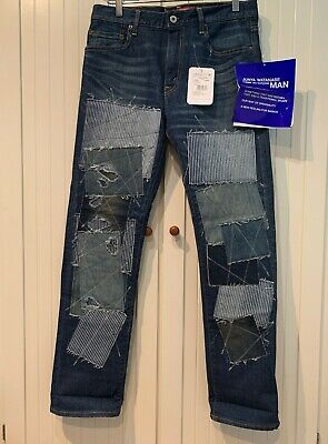 JUNYA WATANABE x LEVI'S Jeans w/ Patches and Leather Pockets, US 32