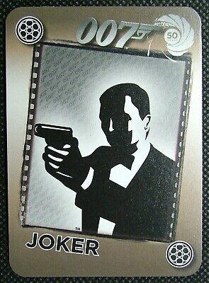 1 x Joker playing card 50 years 007 Silhouette James Bond pointing gun B B2