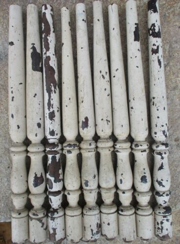 """lot 9 PAINTED WALNUT VICTORIAN PORCH SPINDLES WOOD BALUSTERS COLUMNS 22 1/2"""""""