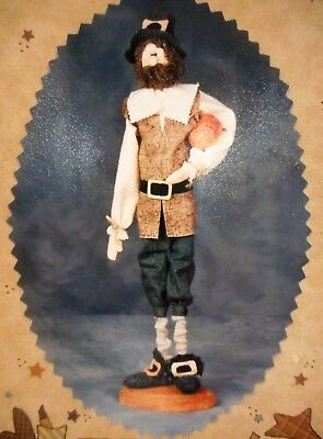 🍂 Fall Country Primitive Colonial Pilgrim Man Cloth Doll Sewing Pattern 18