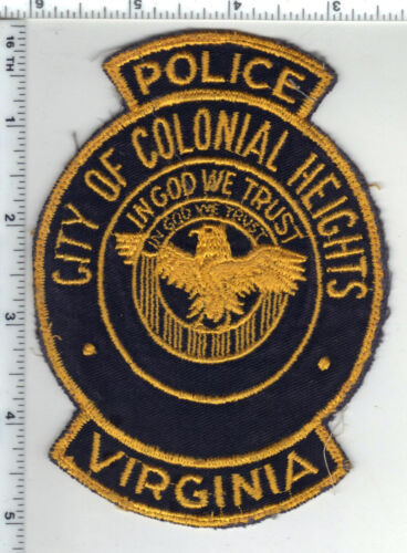 City of Colonial Heights Police (Virginia) 1st Issue Uniform Take-Off Patch