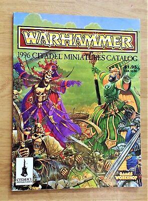 Warhammer 1996 Citadel Miniatures Catalog Games Workshop Vintage
