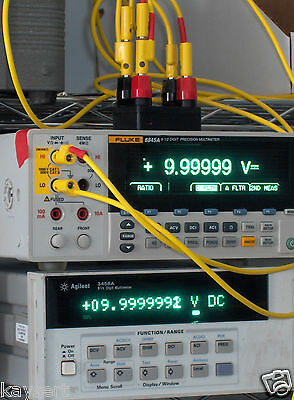 10 Volt 10 V Vdc Voltage Reference Standard Nulled To Fluke 732a Or 732b