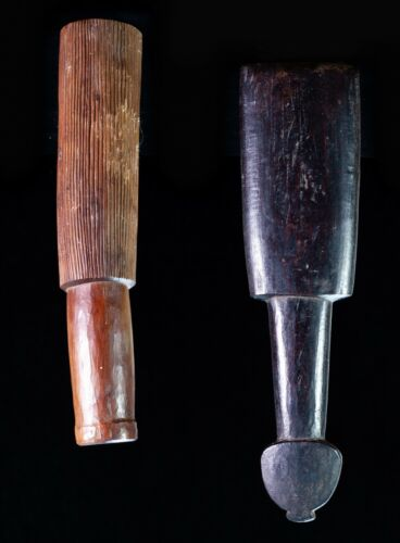 RARE COOK ISLAND TAPA BEATER AND MASSIM CARVERS MALLET