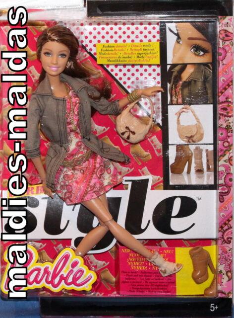 Barbie Style Fashionistas Teresa Deluxe Moden 100 + Posen CFM78 NEU/OVP Puppe