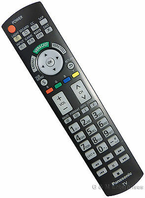 New Panasonic N2QAYB000486 Remote Control for Many 2010-11 Plasma TVs US Seller