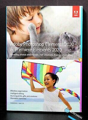 Adobe Photoshop Elements & Premiere Elements 2020 Windows & Mac Disc @NEW@