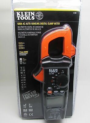 Nib Klein Tools Cl700 600a Ac Auto Ranging Digital Clamp Meter