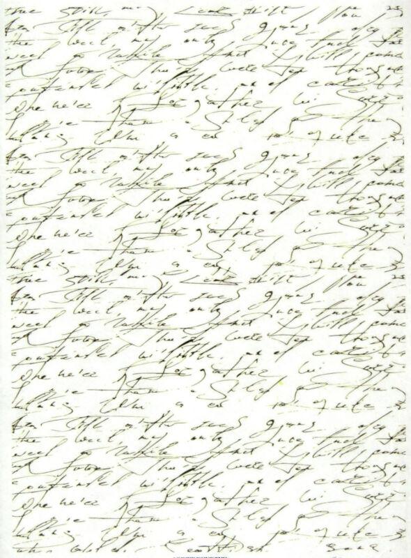 Rice Paper for Decoupage Decopatch Scrapbook Craft Sheet Handwriting Antique
