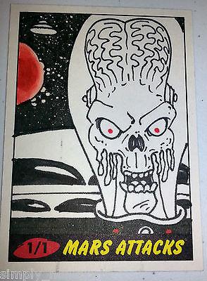 MARS ATTACKS 2012 topps HERITAGE SKETCH CARD WILSON RAMOS