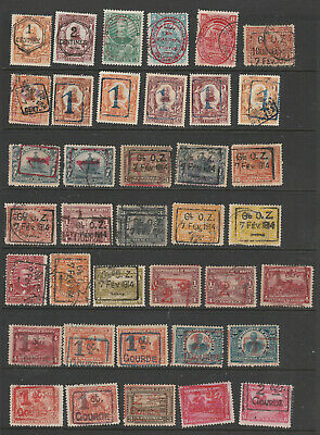 Haiti Surcharged Stamps of 1904-1919 Mint & Used Lot