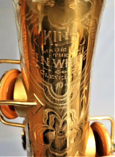 H. N. White King Alto Saxophone.  Late