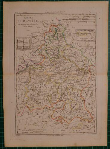 1787 DATED RIGOBERT BONNE MAP ~ BAVARIA BOHEMIA HIGH PALATINATE