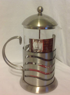 LA CAFETIERE 8 CUP COFFEE PRESS PARIS BEAUTIFUL STAINLESS STEEL & GLASS LINES EC, used for sale  Shipping to Ireland