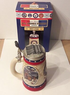 ANHEUSER-BUSCH U.S. ARMED FORCES SERIES NAVY STEIN W/BOX