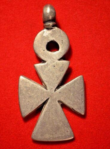 Rare Antique Ethiopian Orthodox Christian Cross Silver Pendant Ethiopia, Africa