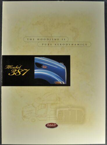 2000 Peterbilt 387 Truck Brochure Poster Sleeper Cab Semi Excellent Original