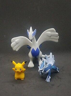 pokemon figures lot Pikachu Dialga Lugia 1.25-3.5 inches each USA seller