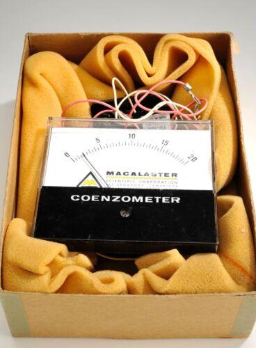 Vinatage 1963 Macalaster Scientific Coenzmeter Light Meter   Photo Cell   N.O.S.