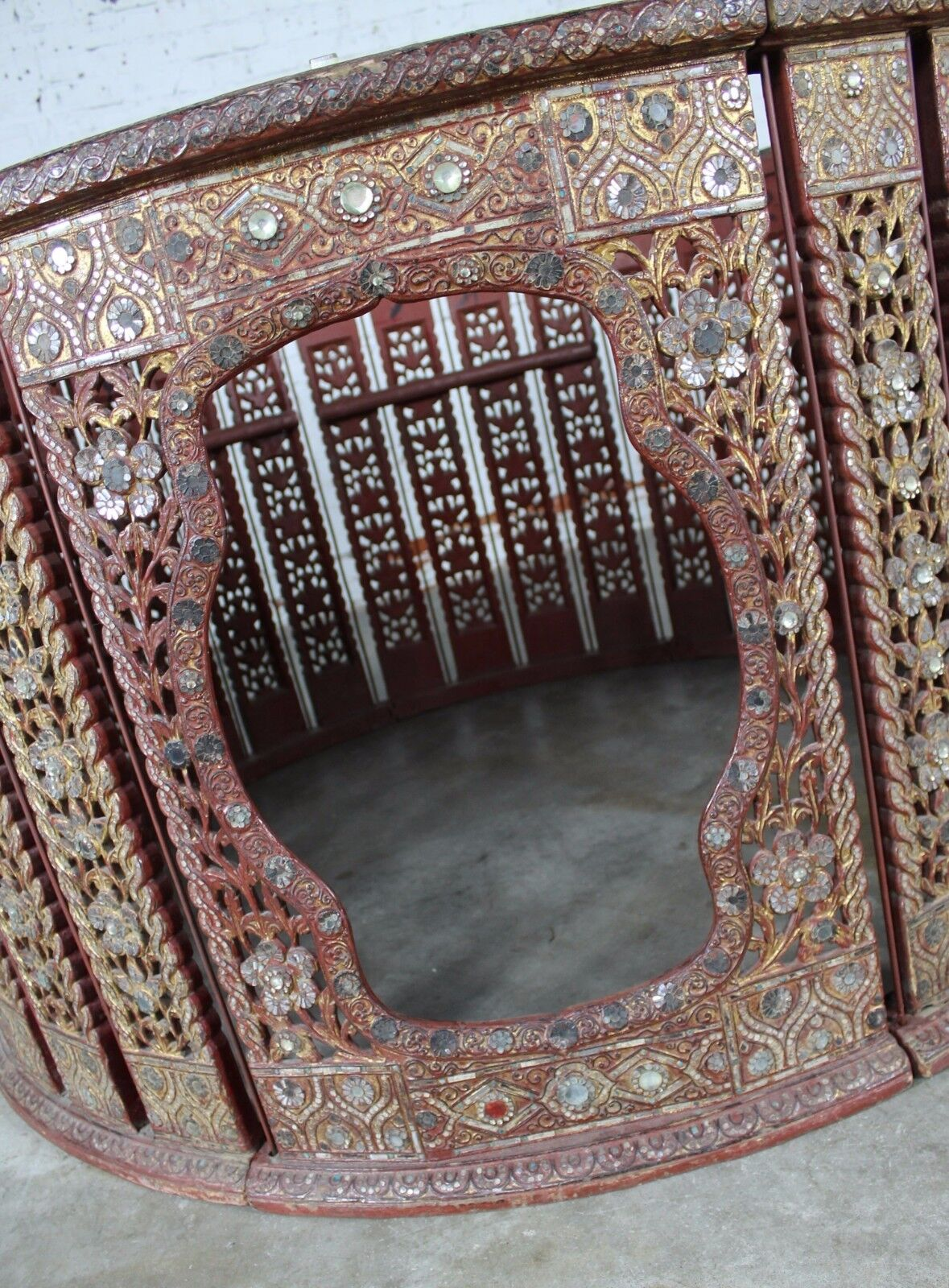 Antiques Antiques Antique Burmese Orchestra Hsain Wain Drum/percussion Circle Carved Panel Table