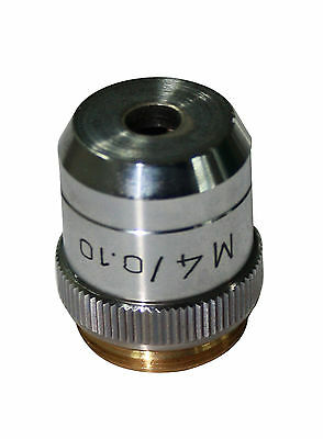 M 4x Metallurgical Metallograph Microscope Objective