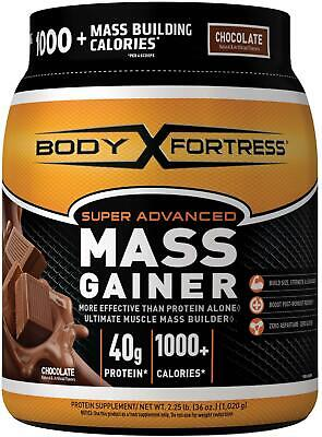 Super Mass Weight Gainer Chocolate Whey Protein Powder Muscle Mass Gain 2.25LBS