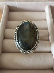 Gorgeous Vintage Sterling Silver Moonstone Ring