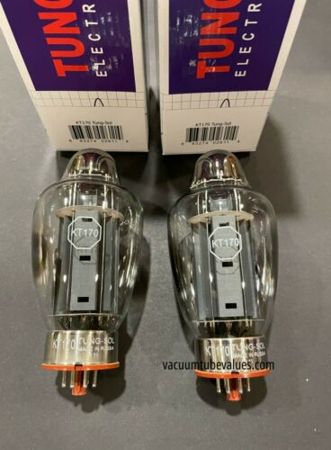 Tung-Sol Platinum Matched PAIR (Two) NEW KT-170 NIB KT170 tubes 24hr Burn-in