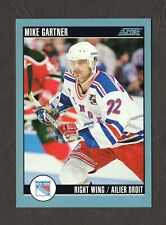 1992 Score Canadian Hockey Card #50 Mike Gartner New York ...