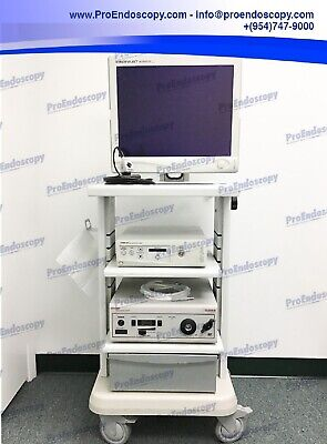 Stryker 1088 Hd Camera System Tower Set With Camera Head Light Source Monitor