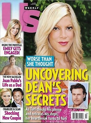 US Weekly magazine Tori Spelling The Bachelor Charlize Theron Sean Penn Fashion