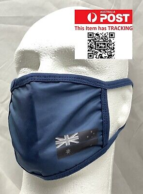 Face Mask, Thin Blue Line, Police, Blue Dust Mask, 2 x Layers, Washable, #2 🇦🇺