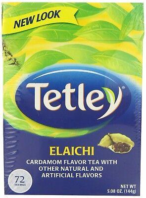 NEW! Tetley Elaichi Cardamom Tea 72 Tea Bags Flavored USA SELLER FREE FAST SHIP