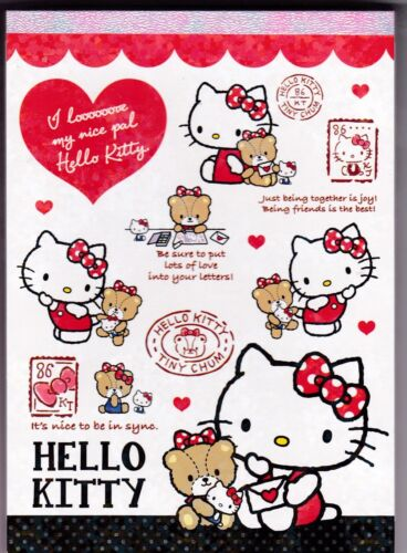 Sanrio Hello Kitty Notepad Bear Black Dots