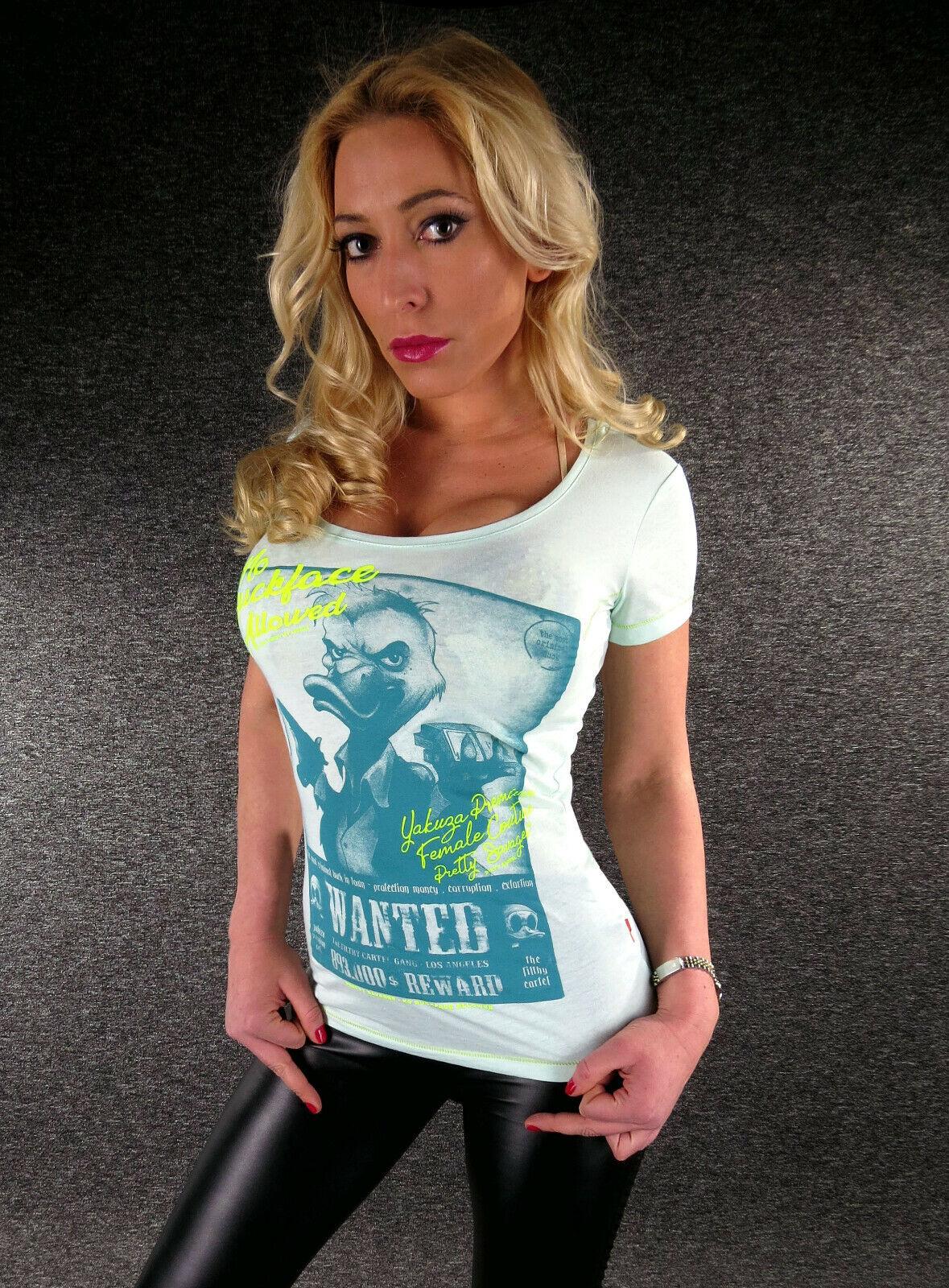 YAKUZA Premium T-Shirt Damen GS 2634 Mint XS S M L XL sexy Girl Shirt Wanted
