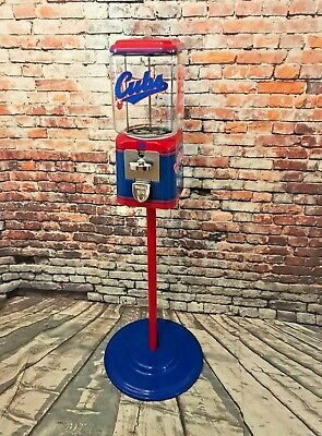 Chicago Cubs inspired vintage gumball dispenser Acorn gumball penny machine