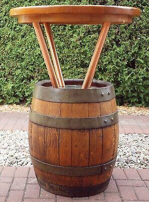 Biertisch Stehtisch Durchm.80 cm, ca.112,5 cm Höhe, Holzfass. Bierfass, TOP Zust
