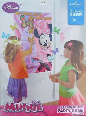 Party Game DISNEY MINNIE MOUSE PIN-THE-BOW Birthday Supplies Hallmark - Minnie Mouse Birthday Games