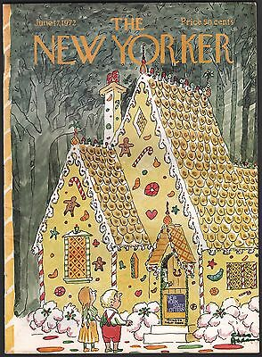 June 17 1972 The New Yorker Magazine Charles Addams  New York State Lottery