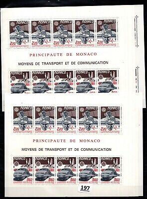 /// 10X MONACO - MNH - EUROPA CEPT 1988 - COMMUNICATIONS - SPACE - TRAINS