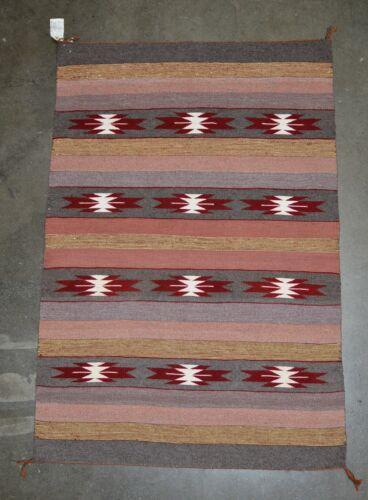 """Very Fine Navajo Rug Crystal by  Elsie Mark, ca 1987,56"""" x 32"""""""