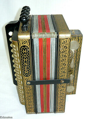 Hohner Single Row Melodeon Accordion 1-Row 4-Reed Stops Made in Germany