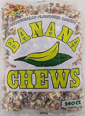 Albert's Banana Chews 240 Count Candy Bulk Taffy Candies Chew Bananas Alberts](Banana Candy)