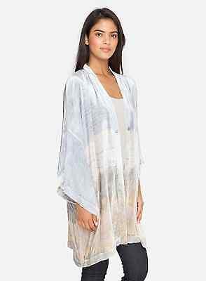 Johnny Was Finn Velvet over-sized kimono wrap short coat  NWT S/M/L $315.00
