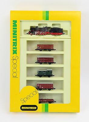 Minitrix 11081 Dampflok - Güterwagen - Zug-Set mit OVP