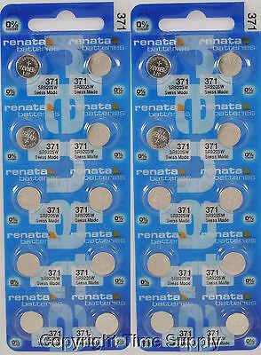 25 pcs 371 Renata Watch Batteries SR920SW FREE SHIP 0% MERCURY