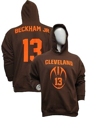 MENS Customized BROWN Hoodie, Any name number,Odell Beckham Jr.,Jersey,T-shirt