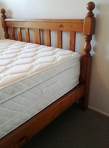 Beautiful wooden queen bed with 48cm thick pillow top mattress Daisy Hill Logan Area Preview