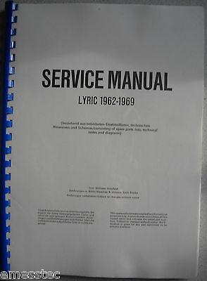 WURLITZER LYRIC 1962-1969 Service Manual