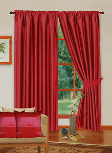 NEXT Faux Silk Lined Ready made Curtains 46 66 90